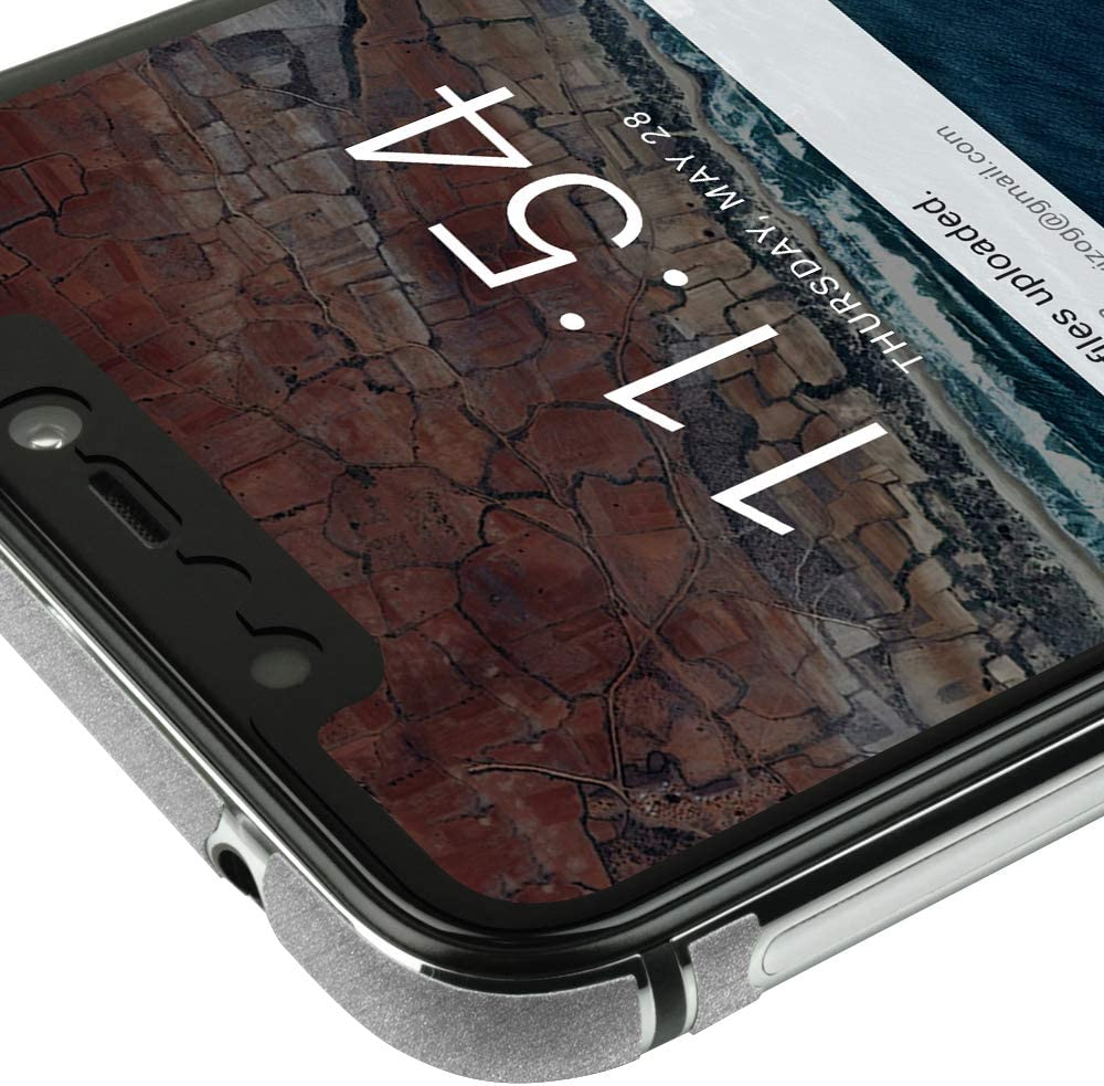 TechSkin with Anti-Bubble Clear Film Screen Protector Skinomi Brushed Aluminum Full Body Skin Compatible with BLU Vivo XI Full Coverage