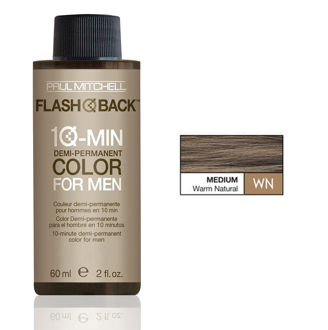 Paul Mitchell Flash Back 10-Minute Hair Color for Men - Medium Warm Natural