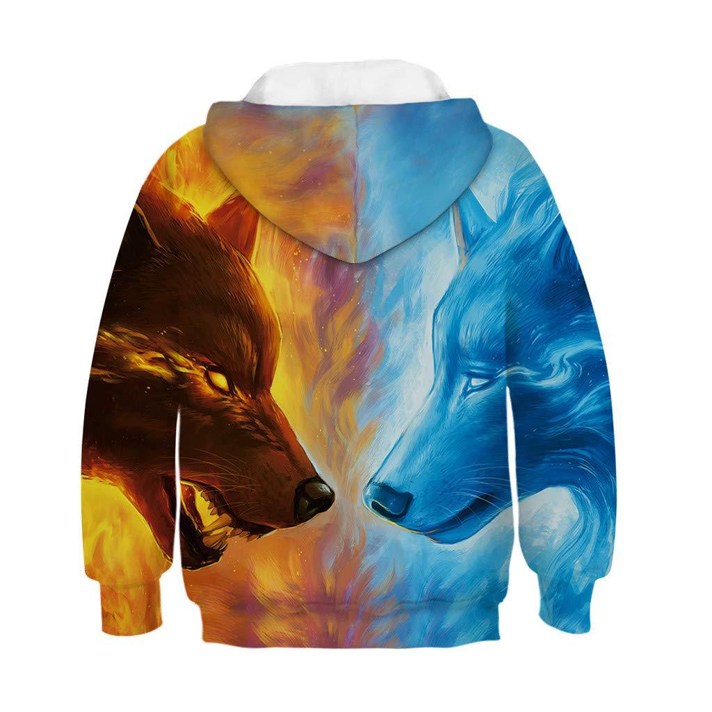 8e4c633bd9b3 Amazon.com: Clothful 💓 for 0-13 Years Old Clothes Set, Toddler Teen Kids  Girl Boy Print Cartoon Sweatshirt Pocket Pullover Hoodie Tops: Clothing