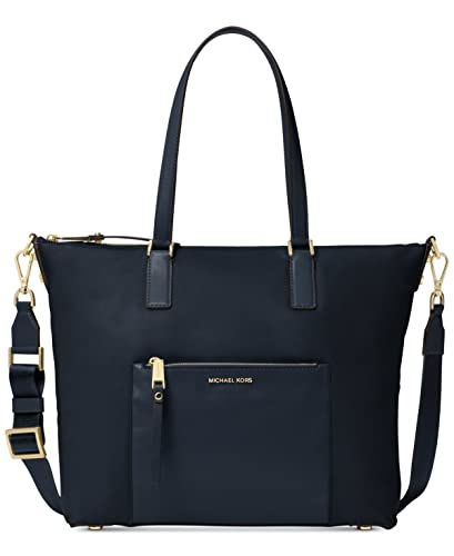 81a902d851af Amazon.com: MICHAEL Michael Kors Womens Ariana Signature Convertible Tote  Handbag Navy Large: Shoes