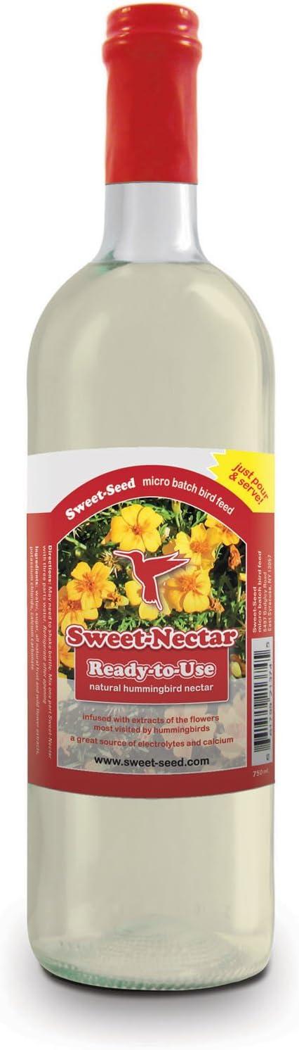 Sweet-Nectar Hummingbird Food: All-natural & Dye Free Premium Hummingbird Nectar (750ml Ready-to-use Formula)