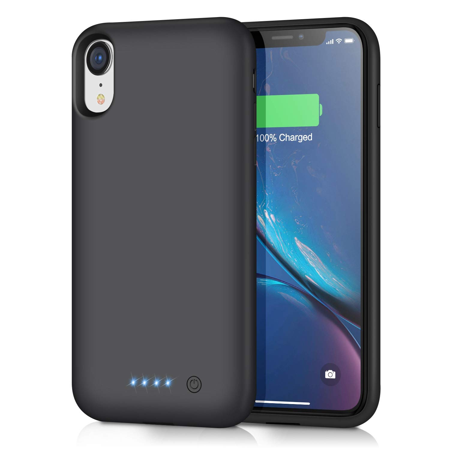 Battery Case for iPhone XR [6800mAh] Gixvdcu Rechargeable Protective Portable Charging Case for Apple iPhone XR Extended Charger Pack Power Bank - Black by Gixvdcu