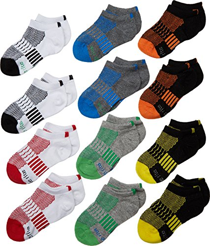 Stride Rite Baby Boy's Ben 12-Pack Tech Sports No Show (Infant/Toddler/Little Kid/Big Kid) Assorted Bright Sock