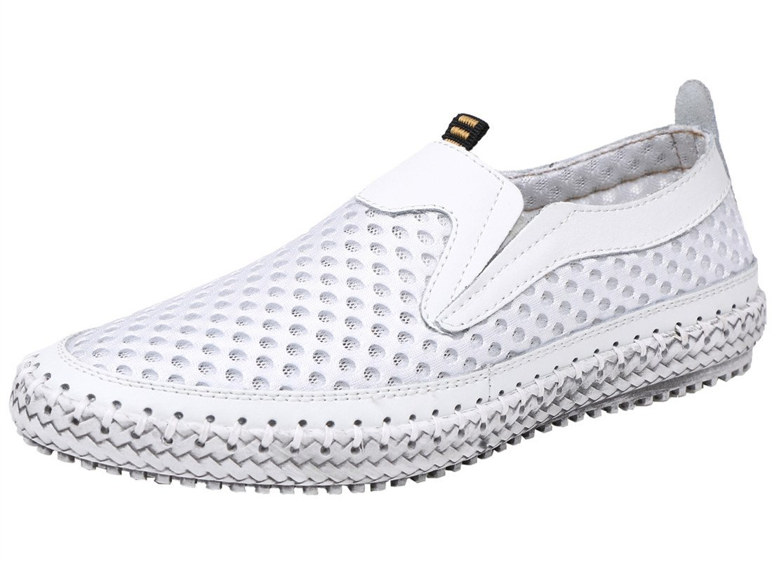 BIFINI Men's Summer Athletic Quick Drying Mesh Slip On Water Shoes White,10 M US