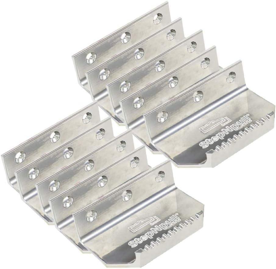 Argent douverture de porte 4 Count Argent/é Stepnpull mains libres