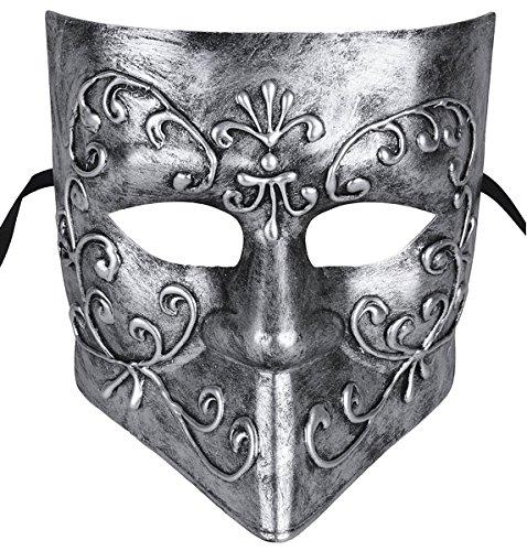 Gentlemen Masquerade Mask Halloween Costumes Mardi Gras Mask With Floral (Masquerade Halloween)