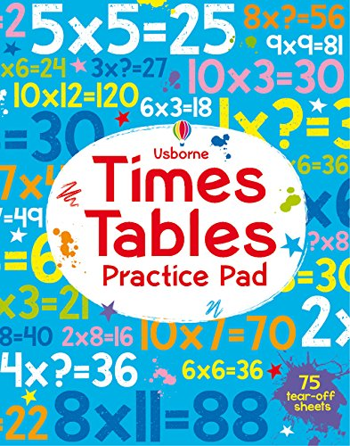 Amazon Com Times Tables Practice Pad Tear Off Pads Toys