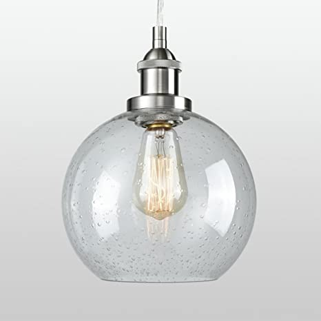 Dazhuan Contemporary Ceiling Light Seeded Glass Pendant Light Sphere
