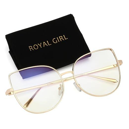 880f35ed6d ROYAL GIRL Cat Eye Retro Sunglasses For Women Metal Frames Trendy Glasses  (Gold Frame