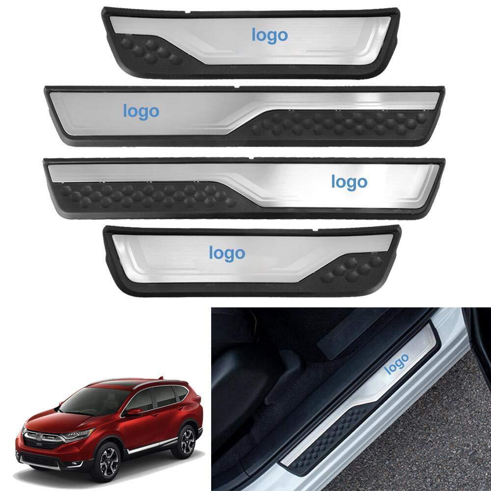 For Honda CR-V CRV 2017 Fashion Style Led Door Sill Scuff Plate Guard Sills Protector Trim