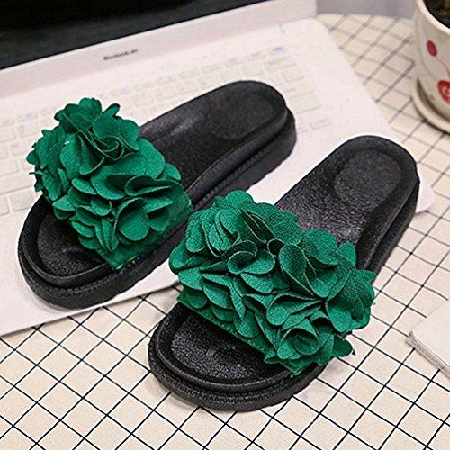 de Sintético JRenok Mujer Sandalias Verde xwTq1naXYU