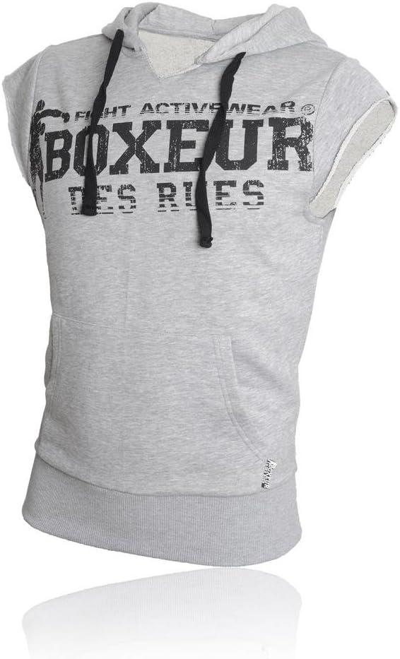 BOXEUR DES RUES Sweat Shirt à Manches Courtes avec Capuchon