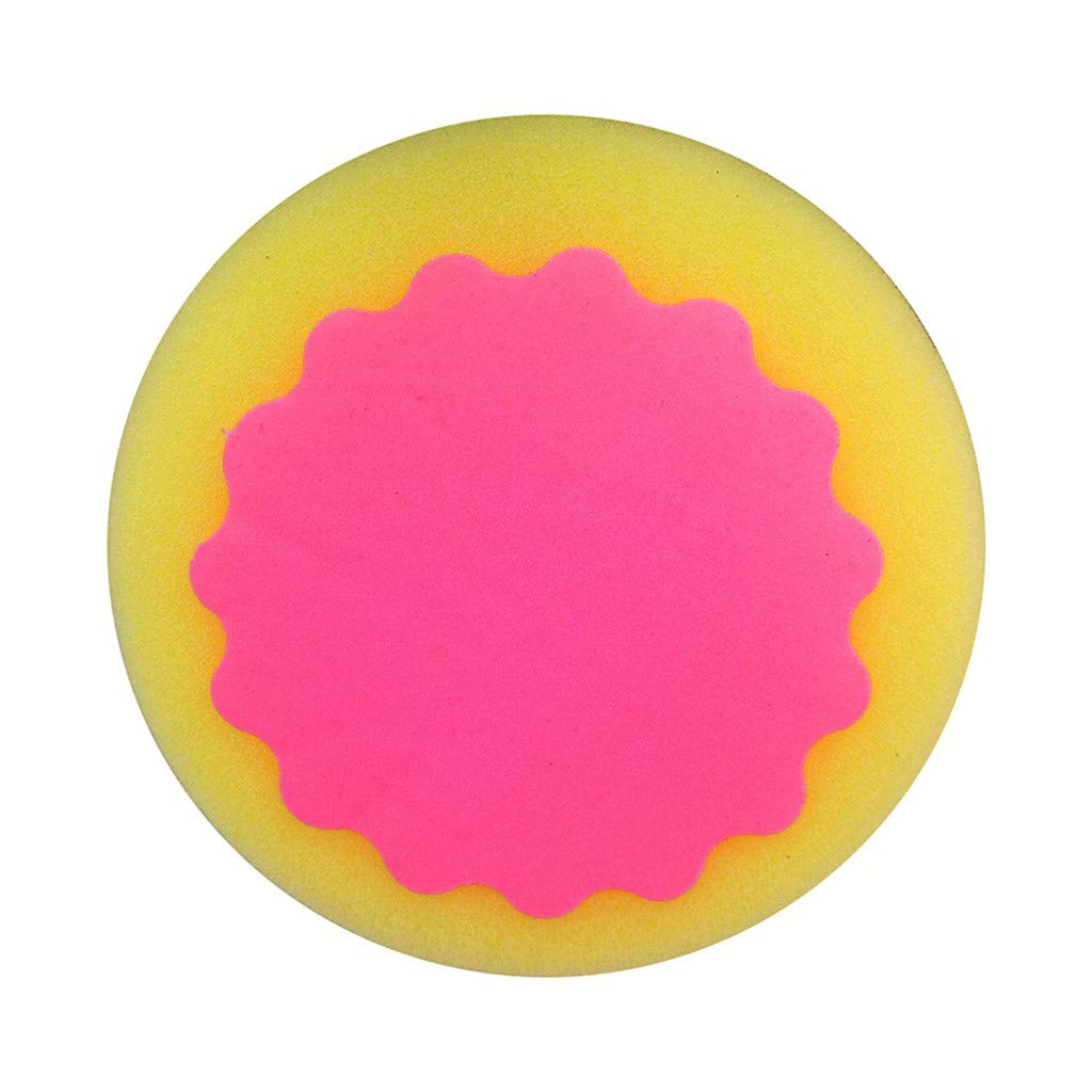 Ranoff 1pcs Magic Depilatory Sponge Painless Hair Removal Depilation Sponge Pad Remove Hair Remover Lubricate The Skin (Hot Pink)