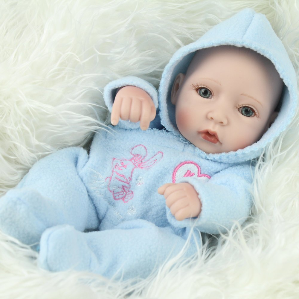 Amazon.com: Kaydora 10 Inch 2 Handmade Reborn Baby Boy and Girl ...