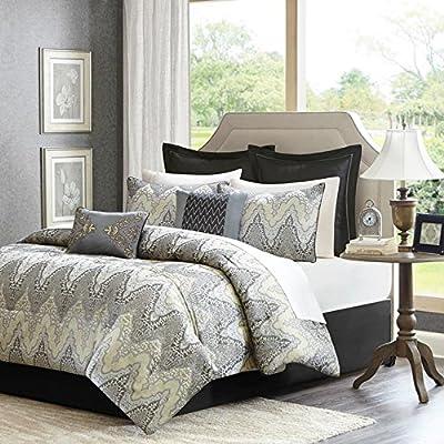 Madison Park Paxton 12 Piece Jacquard Comforter Set -  - comforter-sets, bedroom-sheets-comforters, bedroom - 61PNzTb6F7L. SS400  -