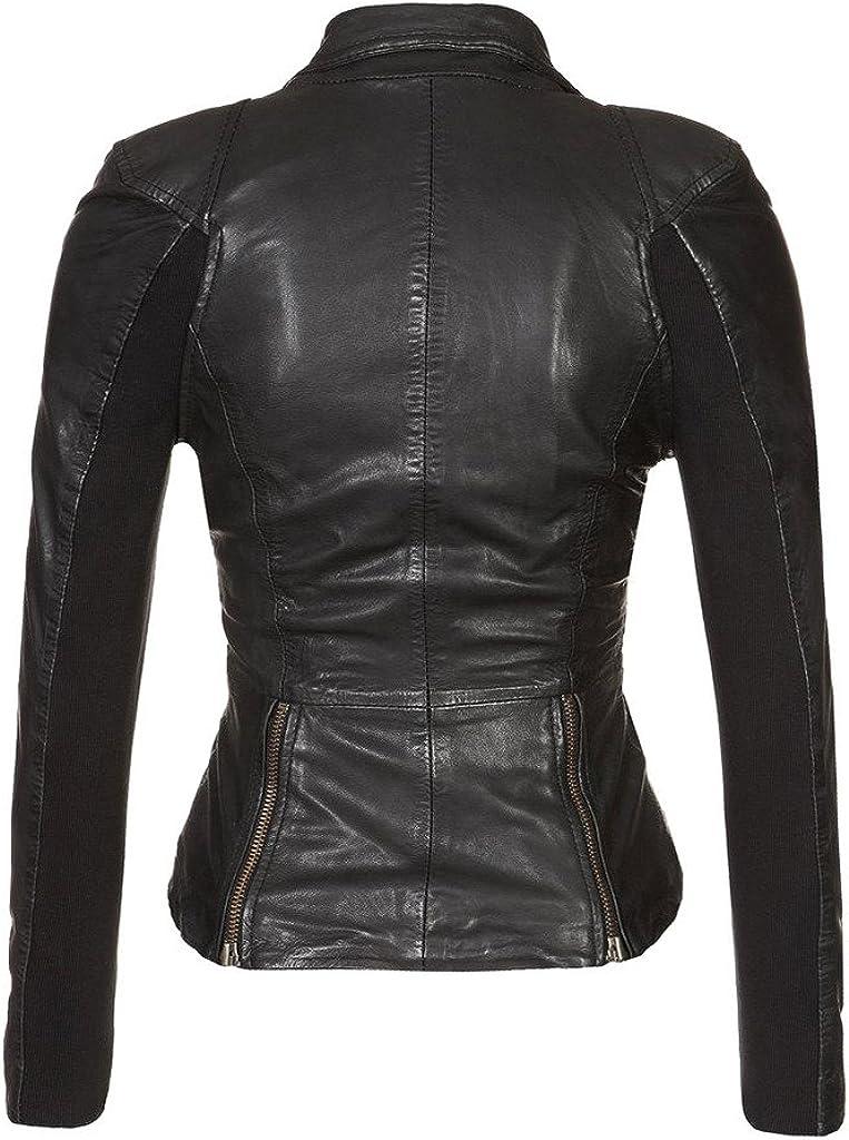 New Women Leather Jacket Soft Lambskin Motorcycle Bomber Party Jacket LTW160