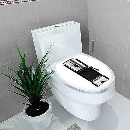 Amazon com: Vanfan Toilet Seat Sticker Coffee Maker on a