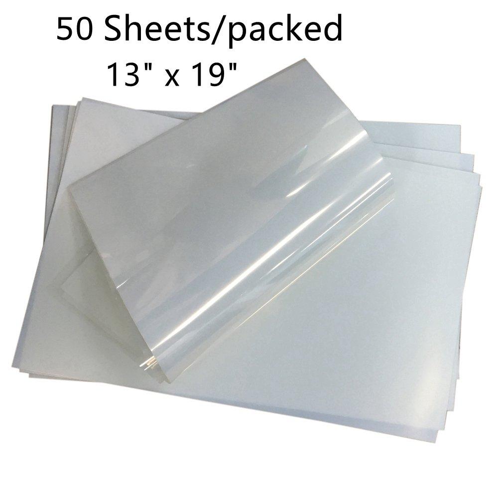 Premium Waterproof Inkjet Transparency Film Paper for Silk Screen 13 x 19 -50 Sheets/pack KD-Tec