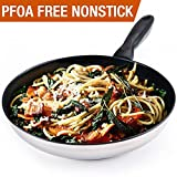 HOMI CHEF 9.5″ Mirror Polished Stainless Steel Nonstick Omelette Pan/Frying Pan (Non Toxic PFOA FREE Nonstick Coating) NICKEL FREE Stainless Steel nonstick Fry Pan/Skillets for Stovetop & Ceramic