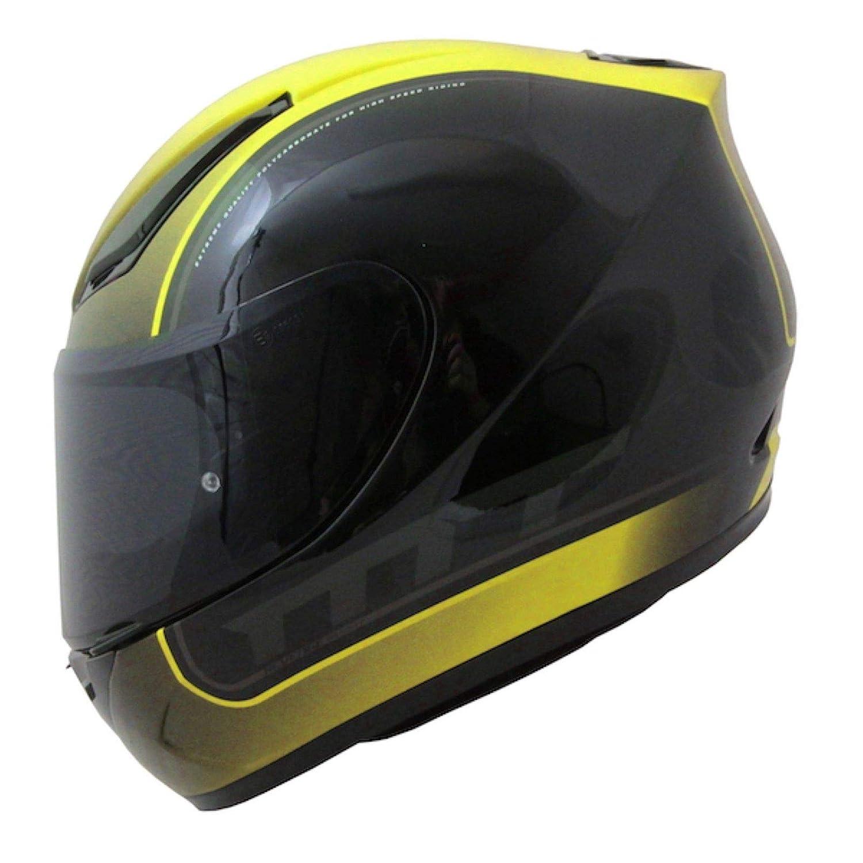 color negro blanco y amarillo talla 2XL MT Revenge Binomy Casco de moto