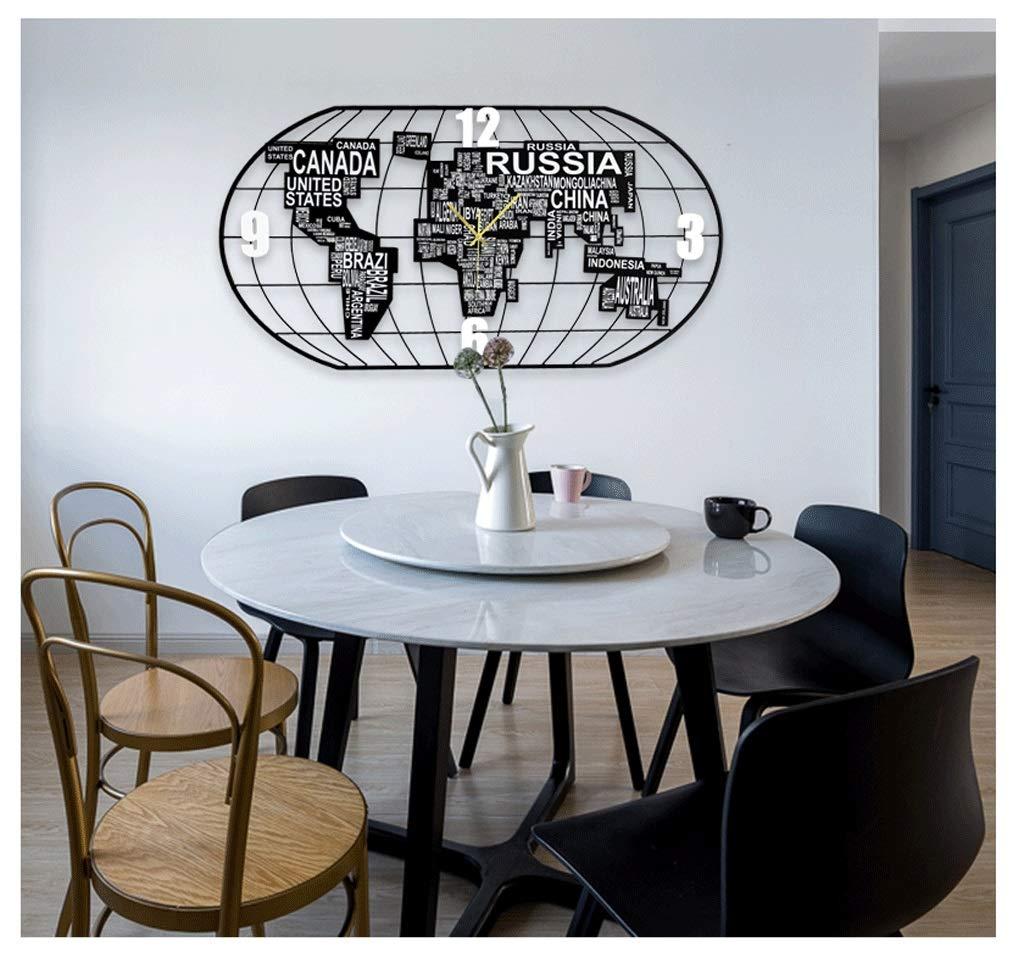 Amazon.com: ZLZGZ Map Wall Clock, Two Sizes, Trendy Quartz ...