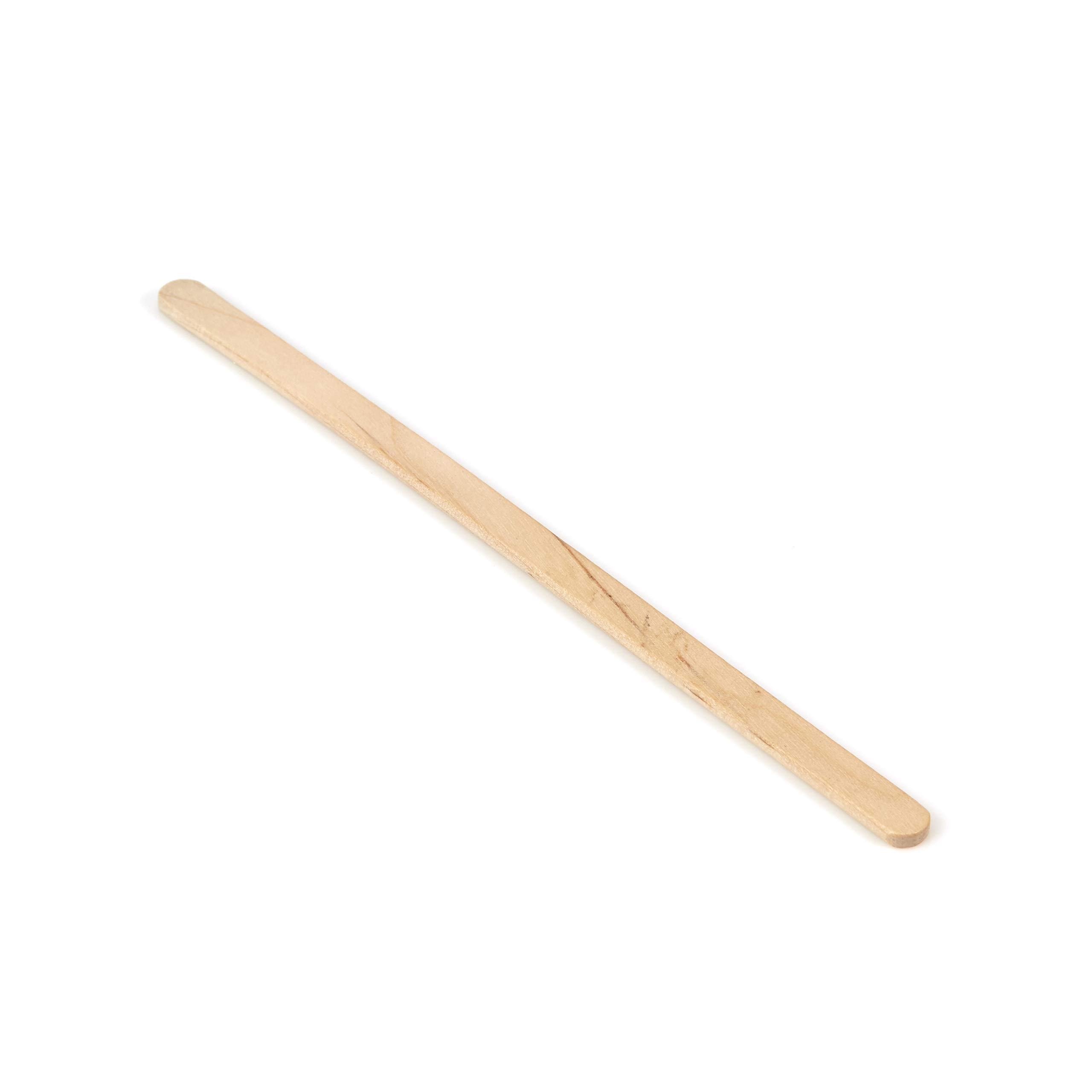 SmartPackUSA 5.5'' x 1/4'' inch Extra Thick Rounded end Wooden stirrers (1,000 Pack)