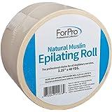 "ForPro Natural Muslin Epilating Roll 3.25"" W x 40 Yards"