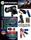 Bundle AOR Flashlights #AOR186, NEBO Lumo 6095 Light – Rechargeable Bright Bike Headlight & Holster – Taillight. High, Low, Strobe Mode! Fits Any Bike – (Black). Includes NEBO LuMO 6095 Clip Light For Sale