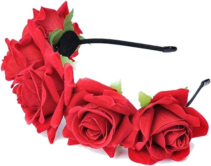 Amazon.com: Ever Fairy - Aro para mujer, diseño de flor de ...