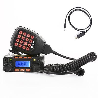 QYT KT-8900 Mini Dual Band Mobile Transceiver 2M 136-174MHz/70cm 400-480MHz 25W Amateur Car Radio (HAM): Car Electronics