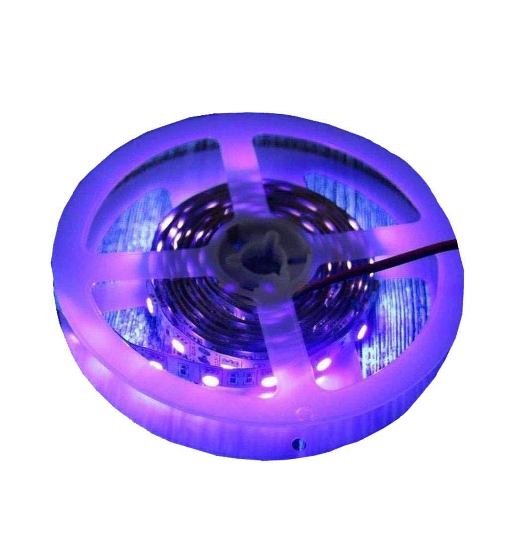 AMARS USB Operated UV Black Lights LED Strip 2M/6.6ft 5050 SMD 395nm-405nm Blacklight for Sterilization, Fluorescent, PC, Poster, DJ, Party, Room Decor