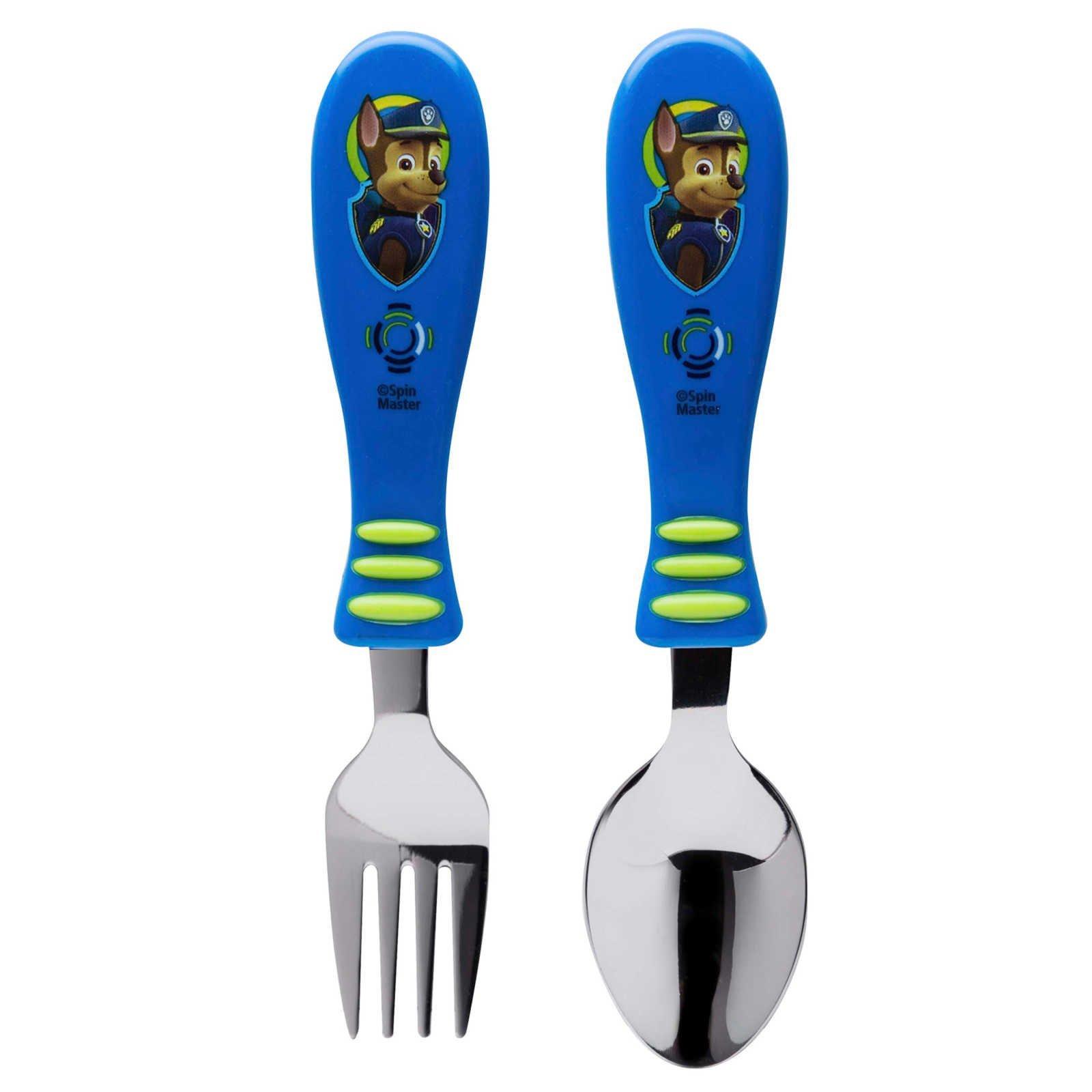 Zak Designs Paw Patrol Fork and Spoon Set, Marshall