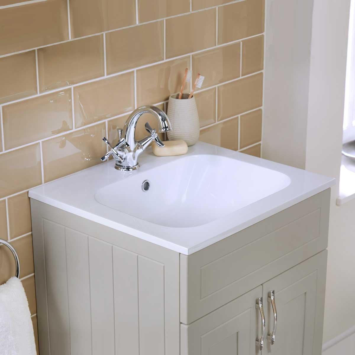bathroom supastore origins classic vanity unit basin earl grey 610 rh amazon co uk