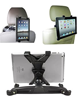 Jackscool Headrest Mount Car Seat Back Holder With 360 Degree Adjustable Rotating Travel Kit For Ipad