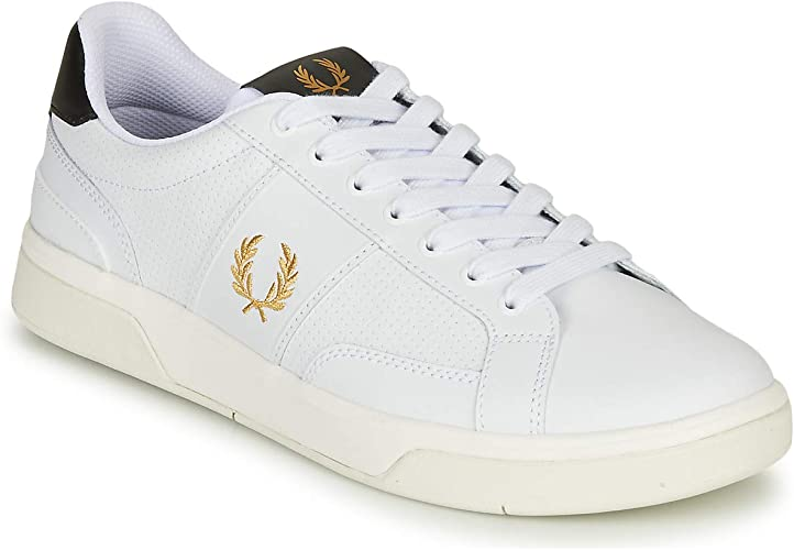 Fred Perry B200 Perf Leather Trainers