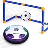 WisToyz Kids Toys Hover Soccer Ball Set with 2 Goal & 1 Kids Soccer Ball, LED Light Soccer Games, Toddler Toys Toddler Boy To