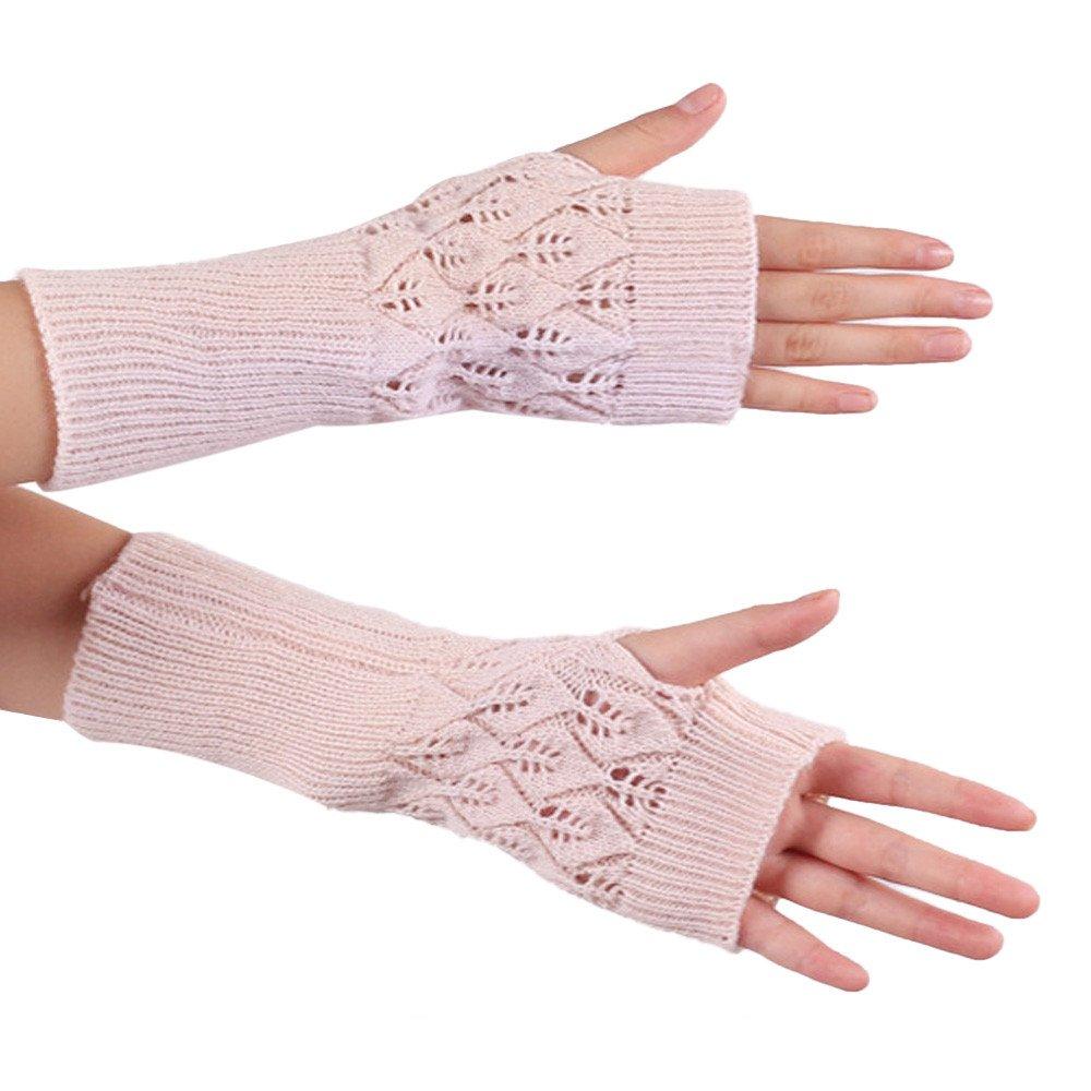 Sannysis Damen-Strick Fringe warme Handschuhe Amonfineshop_694