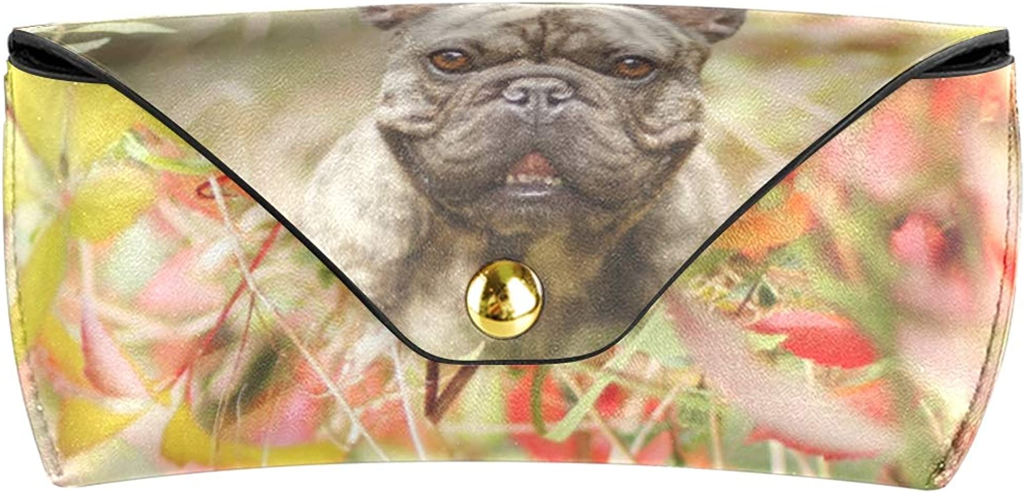 LENNEL Bolsa de gafas Estuche de gafas Perros Bulldog francés Impresión Lindo Gafas de sol unisex Caja Bolsa de anteojos: Amazon.es: Ropa y accesorios