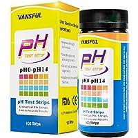VANSFUL pH Test Strips Kit Pack of 125 - PH 0-14 for testing Urine, Saliva and Universal