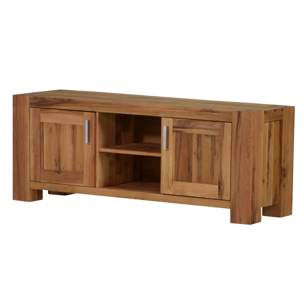 TV-Lowboard TV-Bank Braxton, Massivholz Holz Eiche massiv natur geölt, Breite 170 cm, Tiefe 47 cm, Höhe 64 cm