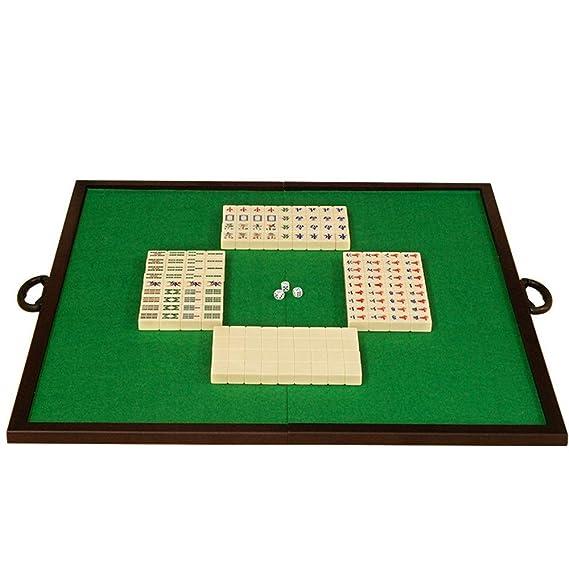 FHLH Mah Jong Mahjong Mahjong Juego Plegable Simple Encimera y casera Portable Tradicional Mahjong Disfrutar de la Diversión (Color, Size : 3.7x2.8x2.2cm): Amazon.es: Hogar