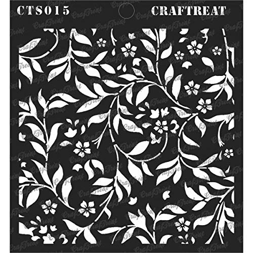 (CrafTreat Stencil - Flourish Background | Reusable Painting Template for Journal, Notebook, Home Decor, Crafting, DIY Albums, Scrapbook and Printing on Paper, Floor, Wall, Tile, Fabric, Wood 6