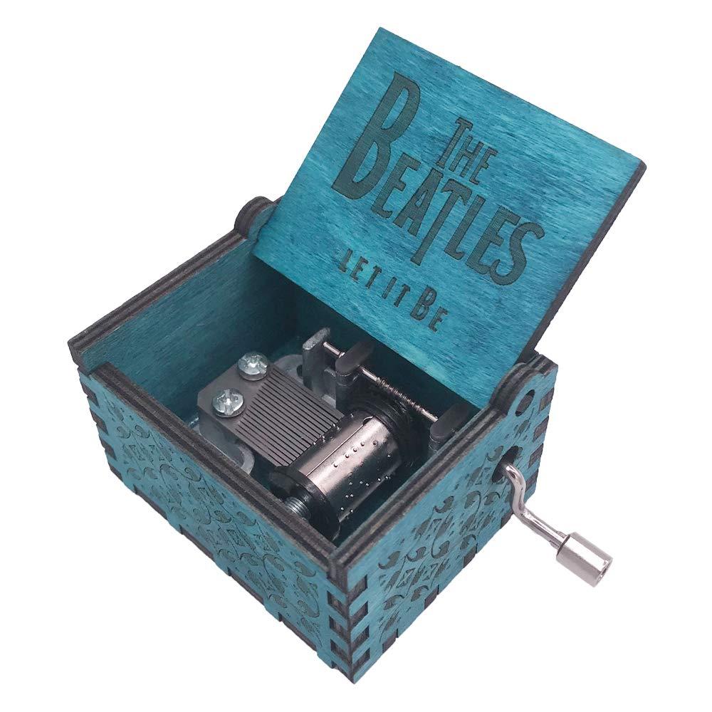 Personalisierte Hand Kurbel Holz Spieldose The Beatles - Let It Be Spieldosen
