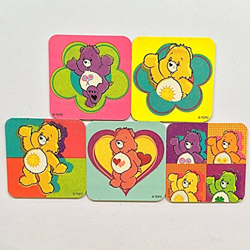 Care Bears Refrigerator Magnets 5 Fridge Party Favors Set Glitter Sparkle