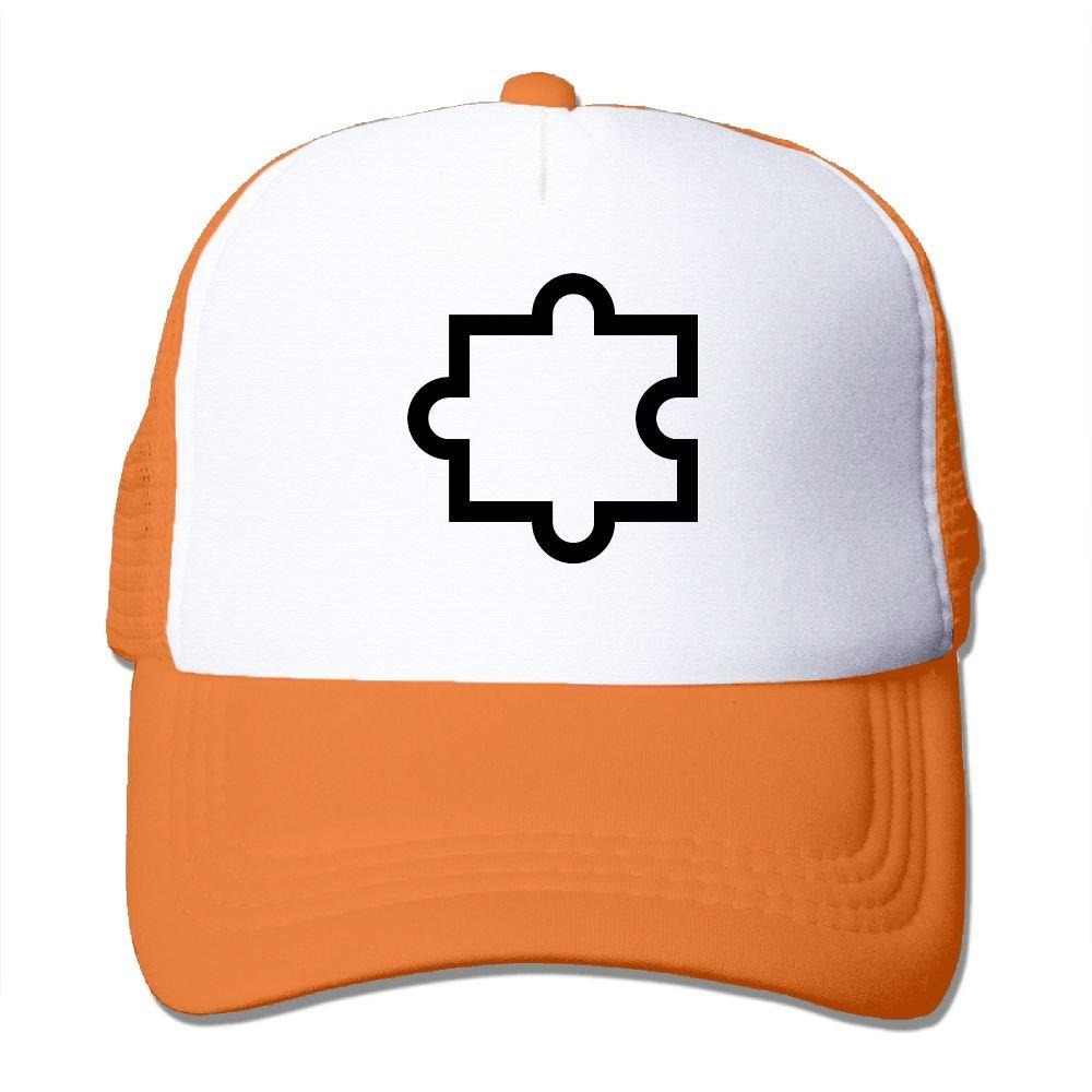 Teesofun Mesh Baseball Caps Black Puzzle Funny Art Unisex Adjustable Sports Trucker Cap