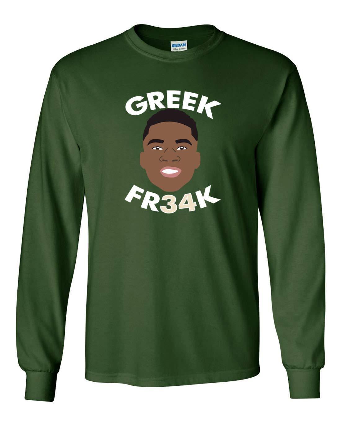 Green Milwaukee Giannis Greek Face Tshirt