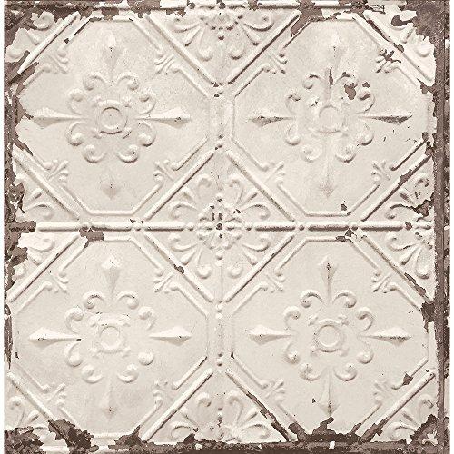 A-Street Prints 2701-22332 Tin Ceiling Beige Distressed ()