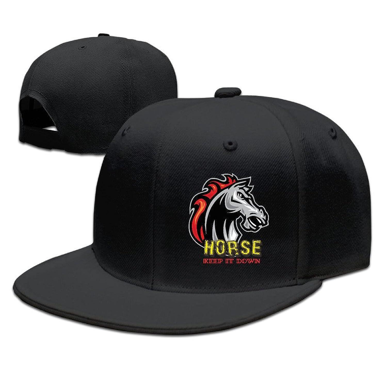 HNN Unisex Horse Keep It Down Flat Baseball Caps Hats