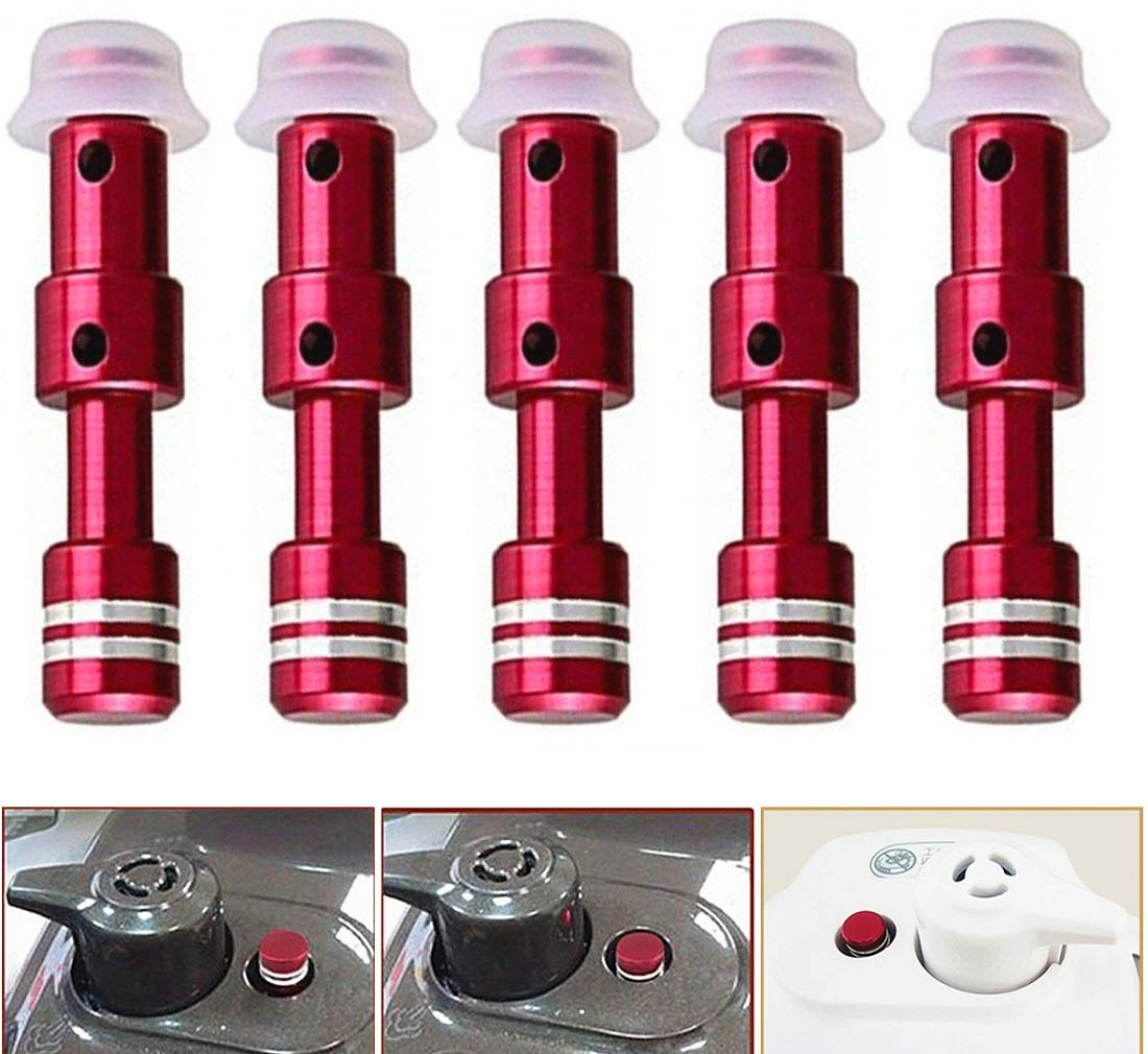 (Set of 5) Replacement Floater Valve and Sealer Ring for Electric Pressure Cooker, Pressure Cookers Parts,Faberware Steam Valve
