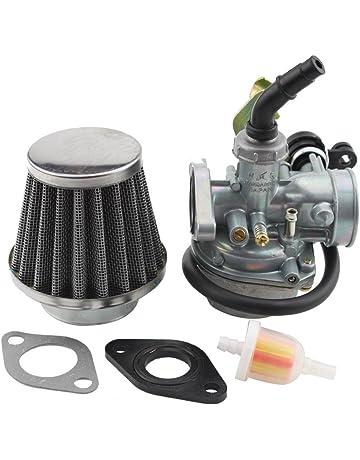 GOOFIT Carburador Dellorto 19 con Filtro de Aire con Filtro de Combustible del Guarnizoni para 2